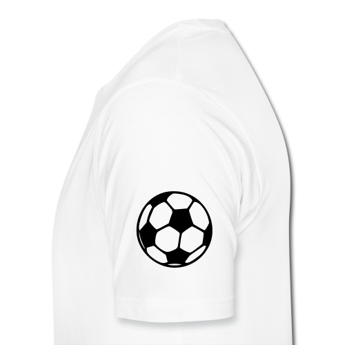 Men's Macho White Football Lover T-Shirt - 2 - Men's Premium T-Shirt