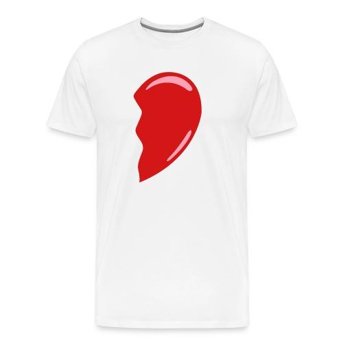 Heart-Right - Colorable - SALE - Men's Premium T-Shirt