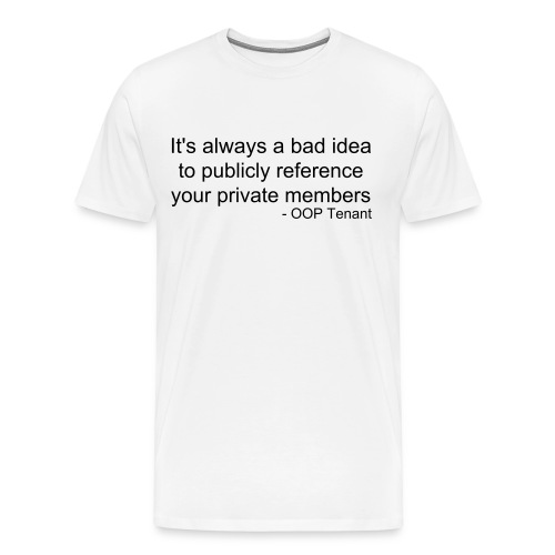 Publicly referencing private members Men's Heavyweight tee - Men's Premium T-Shirt