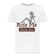 T-Shirts ~ Men's Premium T-Shirt ~ Ride Me - Cowgirl: Men's 3XL T Shirt