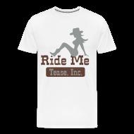 T-Shirts ~ Men's Premium T-Shirt ~ Ride Me - Cowgirl: Men's 3XL T Shirt