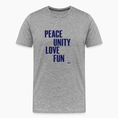 Heather grey peace unity love fun( zulu nation ) by wam T-Shirts