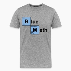 Heather grey Blue Meth T-Shirts