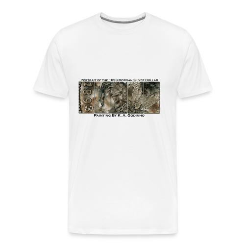 1893 Morgan Silver Dollar Men's T-shirt - Men's Premium T-Shirt