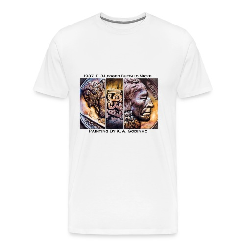 1937 D 3_Leg Buffalo Nickel Men's T-shirt - Men's Premium T-Shirt