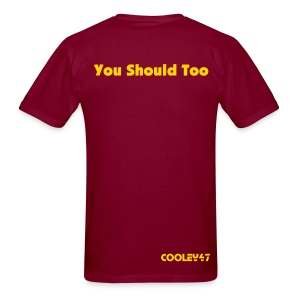 I Hate Dallas Burgundy - Men's T-Shirt