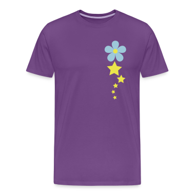 Purple flower and pretty stars in a line T-Shirts