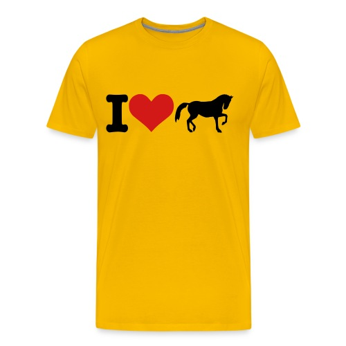 I LOVE HORSES - Men's Premium T-Shirt