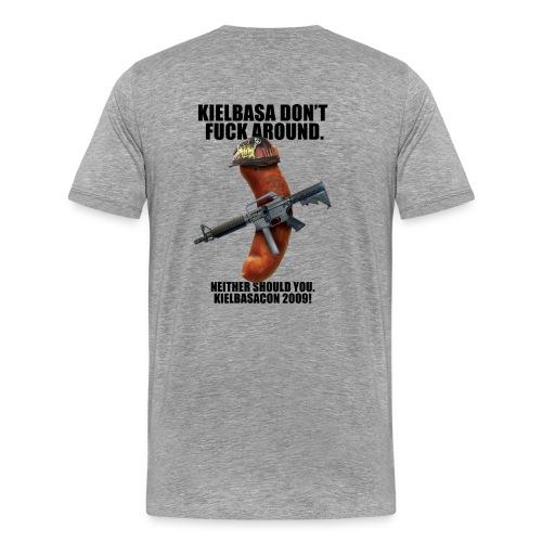 [R Rated] KielbasaCon 2009 Shirt : Men (Graphic on back) - Men's Premium T-Shirt
