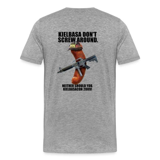 KielbasaCon 2009 Ultimate Shirt : Men (Graphic on back)