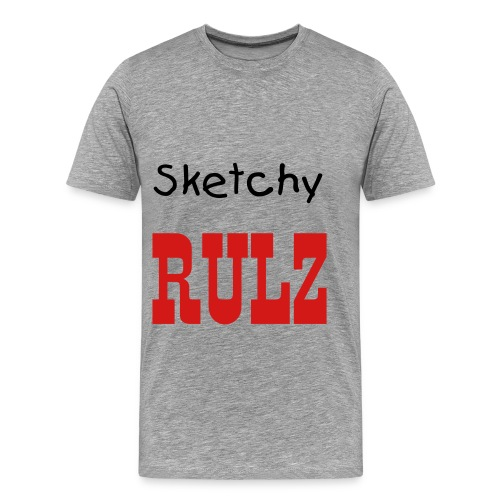 Sketchy Rules Ad Shirt - Men's Premium T-Shirt