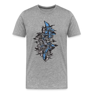Blue Grafitti Stack Designer T shirt - Men's Premium T-Shirt