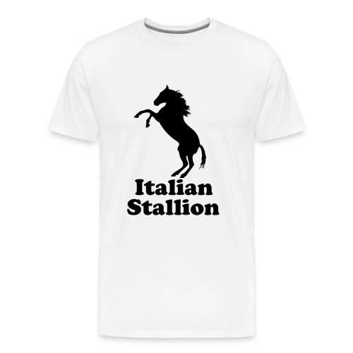Italian Stallion- Mens White Tee - Men's Premium T-Shirt