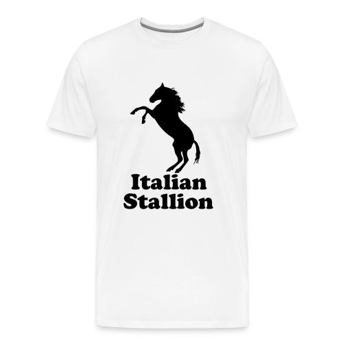 Italian Stallion- Mens White Tee - Men's Premium T-Shirt