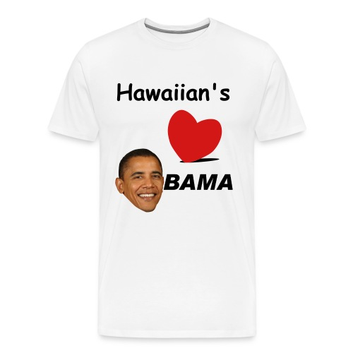 Hawaiian's Love Obama - Men's Premium T-Shirt