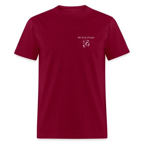 MA Fish Finder T-Shirt (Burgundy) - Men's T-Shirt