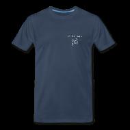 T-Shirts ~ Men's Premium T-Shirt ~ NY Fish Finder T-Shirt (Navy)