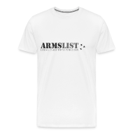 T-Shirts ~ Men's Premium T-Shirt ~ ARMSLIST Logo Tee XXXL