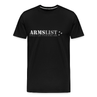 T-Shirts ~ Men's Premium T-Shirt ~ ARMSLIST Logo Tee - Heavyweight