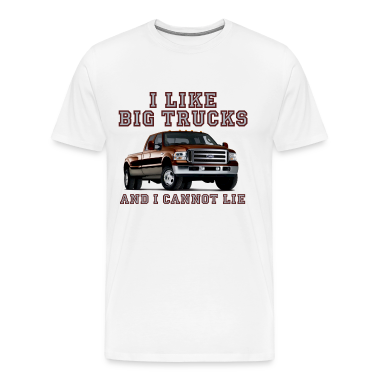 White I Like Big Trucks & I Cannot Lie Chevy T-Shirts