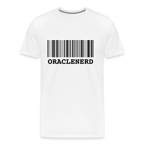 ORACLENERD Barcode - Men's Premium T-Shirt