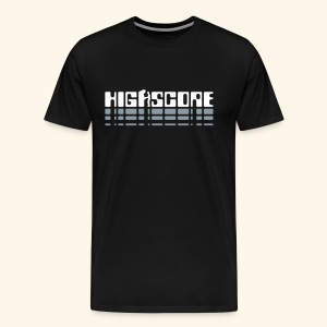 Highscore2 (silver) - Men's Premium T-Shirt