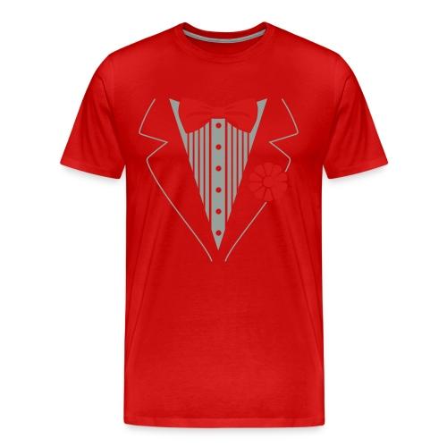 red tuxedo shirt - Men's Premium T-Shirt