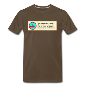 Liar Liar Fake 4sq Badge - Men's Premium T-Shirt