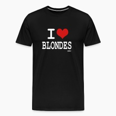 Black i love blondes by wam T-Shirts