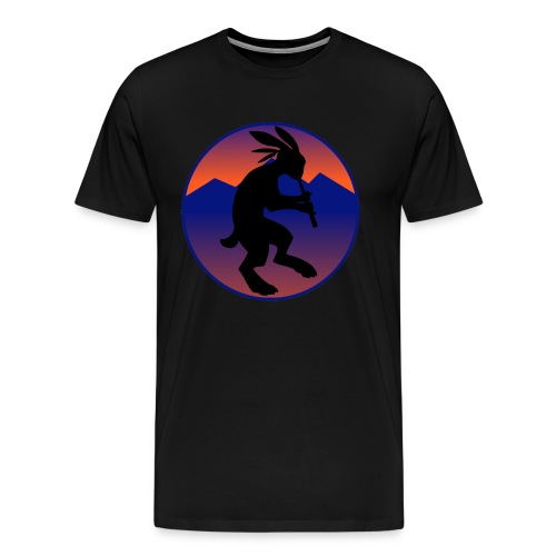 Men's Premium T-Shirt - Kokopelli (Native American flautist) jack-rabbit