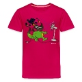 Hot pink Burned Dragon Kids' Shirts