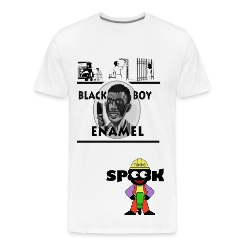Black Boy Enamel - Men's Premium T-Shirt