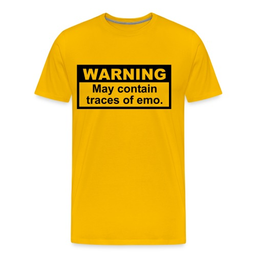 WARNING: Emo - Men's Premium T-Shirt