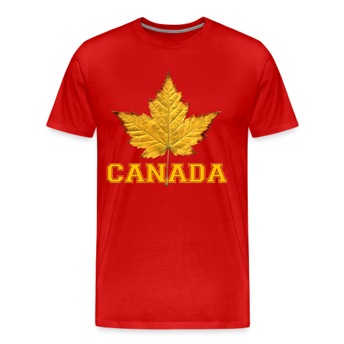 Men's Canada T-shirt 3XL 4XL Canada Maple Leaf Souvenir T-shirts - Men's Premium T-Shirt
