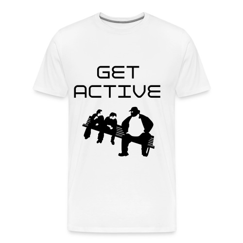 Get Active (backside) Tee - Men's Premium T-Shirt