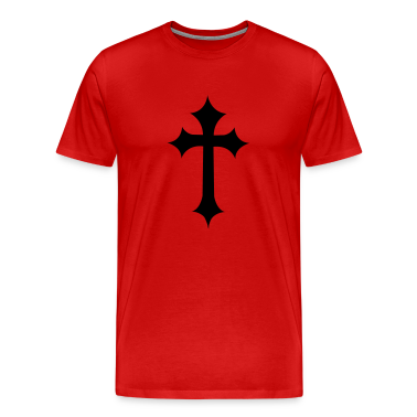 Red fancy gothic cross  T-Shirts