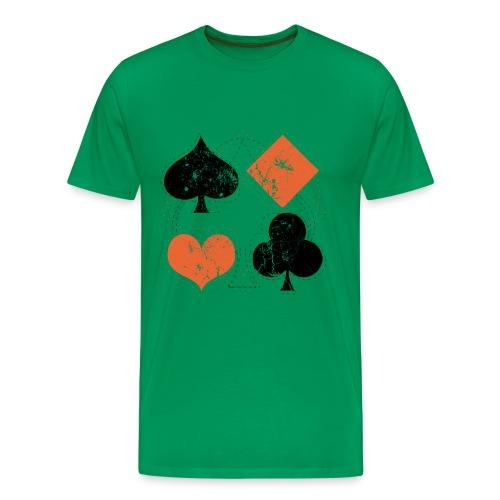 b3ta vintage playing cards - Men's Premium T-Shirt