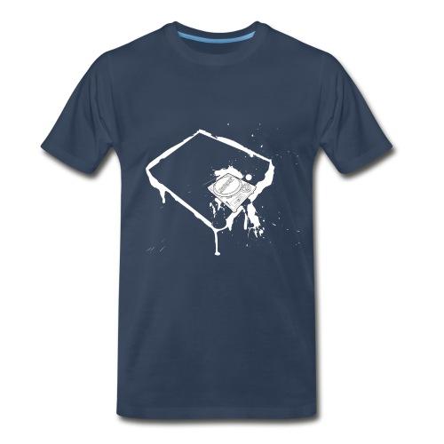 Dj Technics SL1200 and splash! - Men's Premium T-Shirt