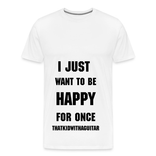 Happy plain - Men's Premium T-Shirt