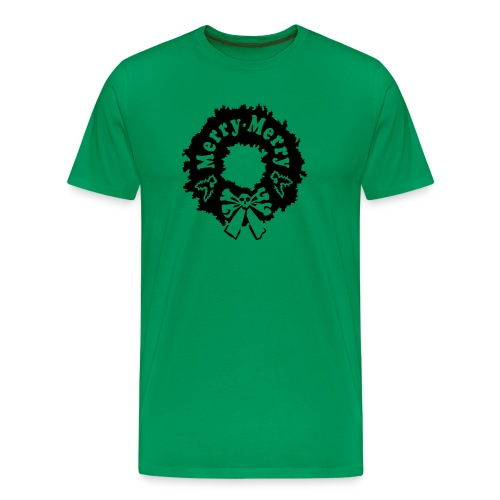 Merry Merry shirt ; no text, black sparkle - Men's Premium T-Shirt