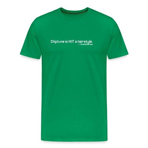 Not a Hairstyle White Text Men's 3XL - Men's Premium T-Shirt