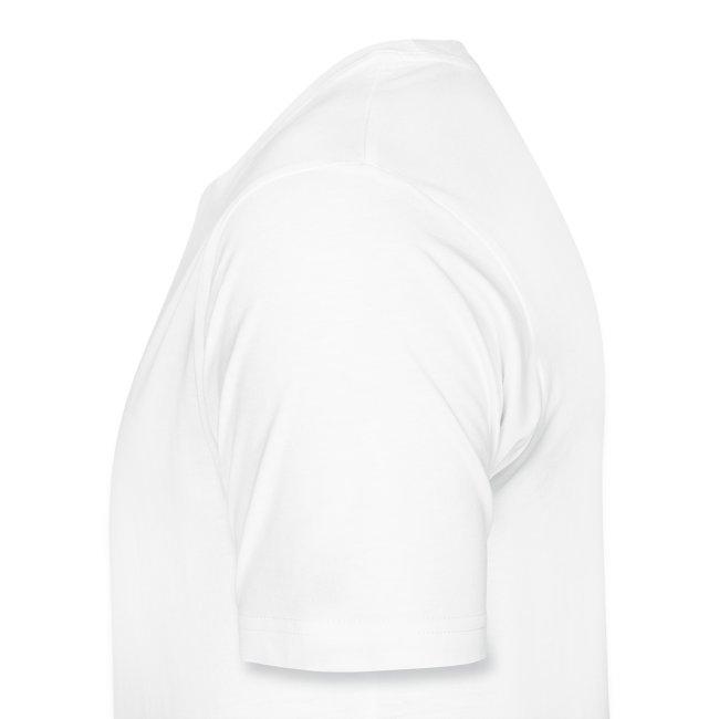 One sided basic white logo shirt