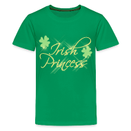 Kids' Shirts ~ Kids' Premium T-Shirt ~ Irish Princess, Girls St Patricks Day Shirt
