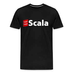 Men's Black T-Shirt with White Scala Logo - Men's Premium T-Shirt