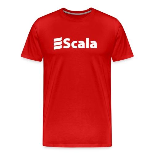 Men's Color T-Shirt with Plain White Logo - Men's Premium T-Shirt