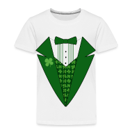 Baby & Toddler Shirts ~ Toddler Premium T-Shirt ~ Toddler Leprechaun Tuxedo T-Shirt, St Patricks Day