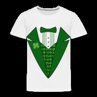 Baby & Toddler Shirts ~ Toddler Premium T-Shirt ~ Toddler Leprechaun Tuxedo T-Shirt, St Patricks Day