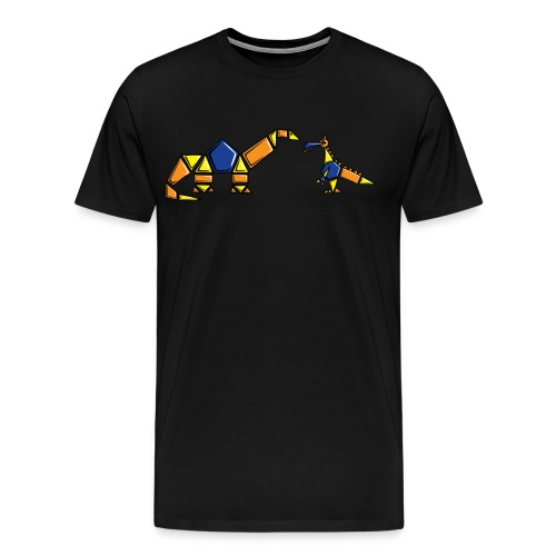 Dinoblocks Black - Men's Premium T-Shirt
