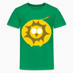 Kelly green Lion Kids' Shirts