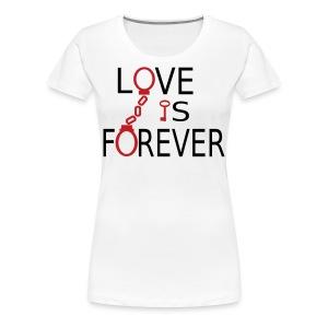 Love is Forever Plus Size - Women's Premium T-Shirt